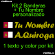 Kit 2 Pegatinas Vinilo Bandera Castilla La Mancha Y Texto Personalizado