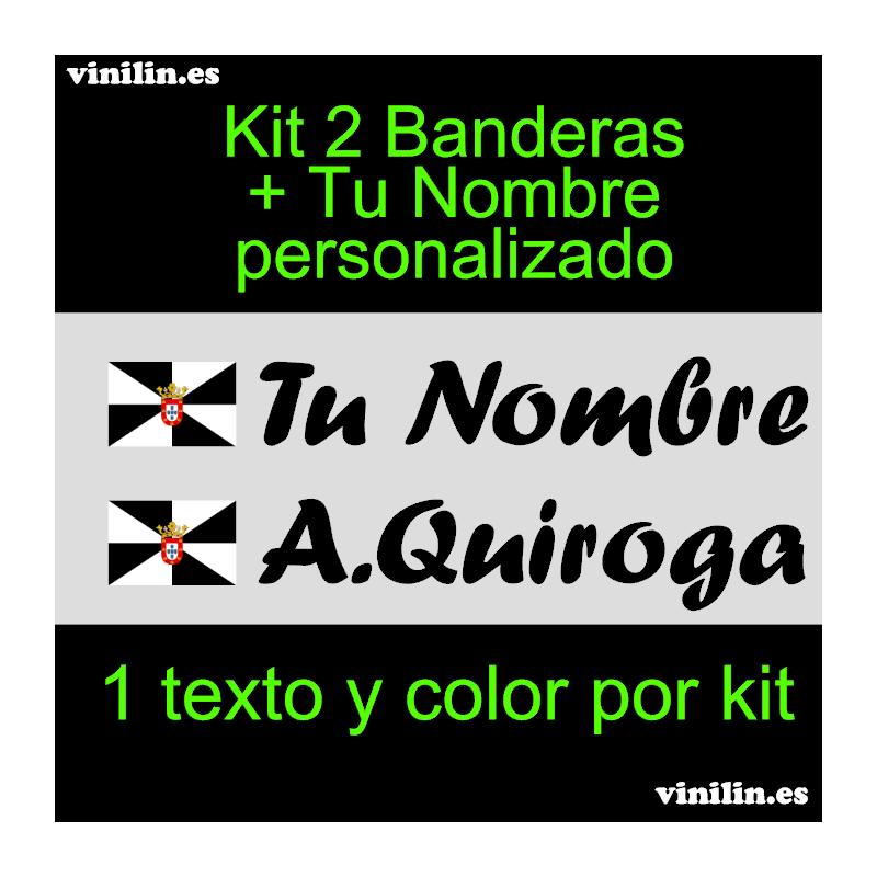 Nombre Personalizado Pegatina Vinilo Bandera Ceuta