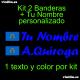 Kit 2 Pegatinas Vinilo Bandera Melilla Y Texto Personalizado