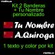 Kit 2 Pegatinas Vinilo Bandera Murcia Y Texto Personalizado