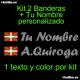 Kit 2 Pegatinas Vinilo Bandera Pais Vasco (Ikurriña) Y Texto Personalizado