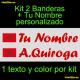 Kit 2 Pegatinas Vinilo Bandera Marruecos Y Texto Personalizado