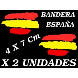 2 X Bandera España Spain Vinilo adhesivo