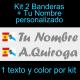 Kit 2 Pegatinas Vinilo  Bandera España/Galicia Y Texto Personalizado