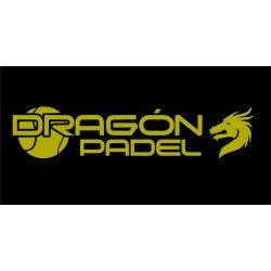 2 X VINILO DRAGON PADEL DORADO 3 X 14CM