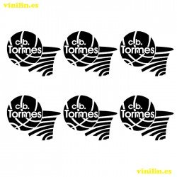 6 X LOGO c.b. TORMES 4 X 3,35 CM