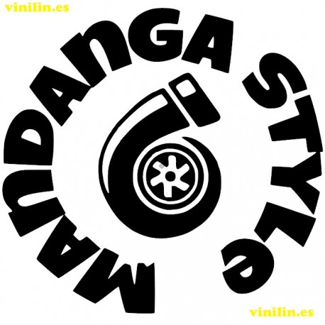 PEGATINA VINILO Turbo Mandanga style -  Medidas seleccionables